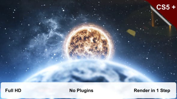 Videohive Planets Collision Intro 7899926