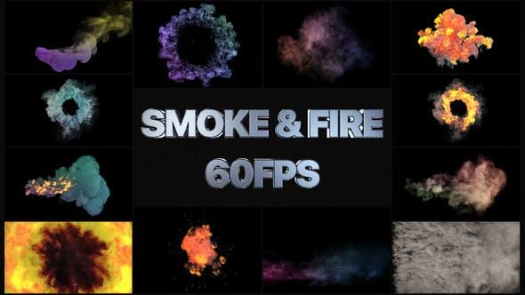 Videohive Smoke And Fire VFX Simulation 26353961