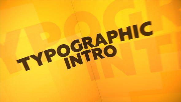 Videohive Typographic Intro 23453511