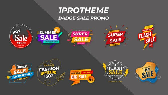 Videohive Badges Sale Promo V15 28141957