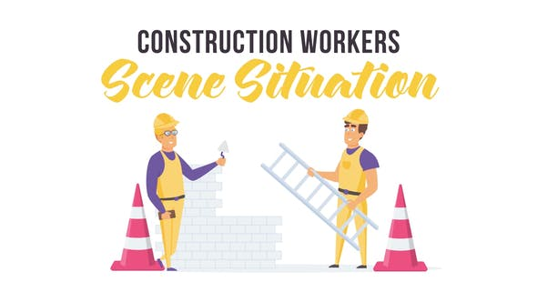 Videohive Construction workers - Scene Situation 28256036