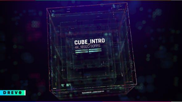 Videohive Cube Intro Glitch Opener 28746004