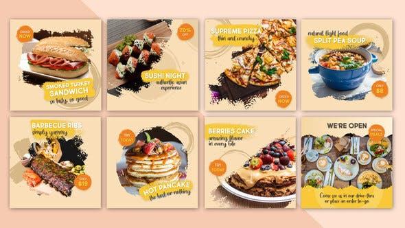 Videohive Food Social Post V14 27856933
