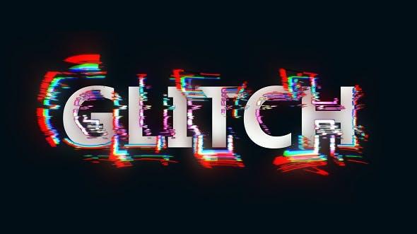 Videohive Glitch Alphabet 20291036