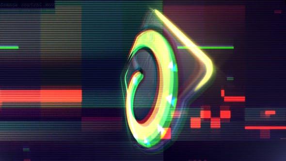 Videohive Glitch Neon Logo Reveal 23684084