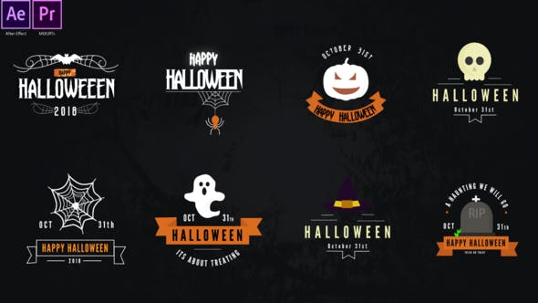 Videohive Halloween Titles Pack 28847017