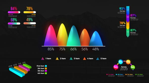 Videohive Infographic Modern Graphs 27371616