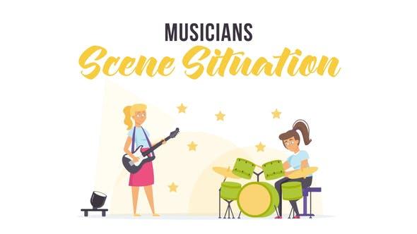 Videohive Musicians - Scene Situation 28255909