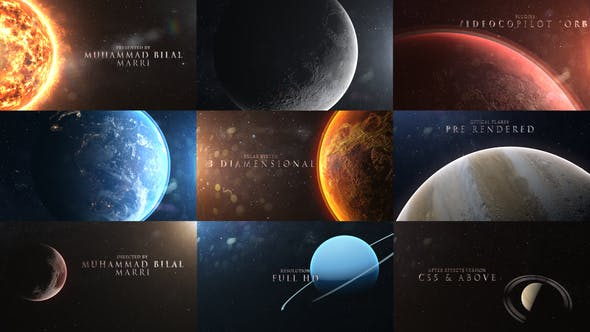 Videohive Solar System 3D 22890568