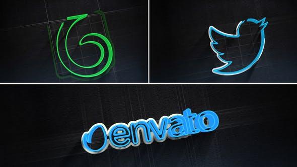 Videohive 3D Stroke Logo Reveal 24921455