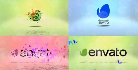 Videohive Colorful Butterfly Logo Pack 13066321