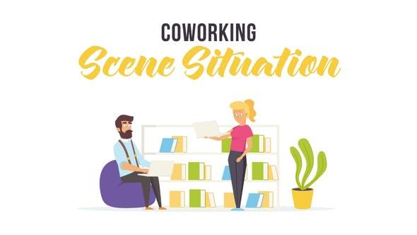 Videohive Coworking - Scene Situation 28256147