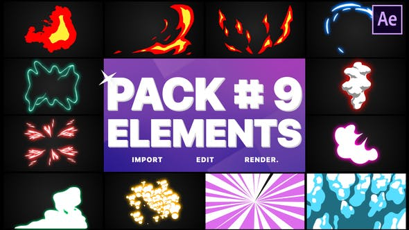 Videohive Flash FX Elements Pack 09 28410665