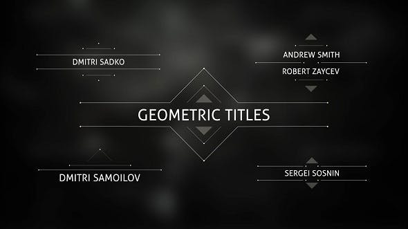 Videohive Geometric Titles 14745548