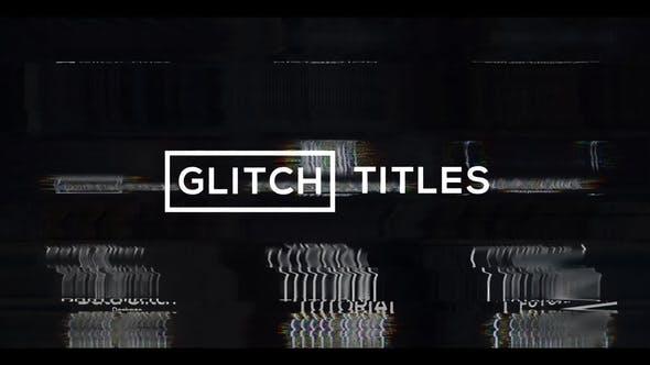 Videohive Glitch Modern Titles - Lower Thirds 28914948