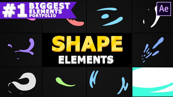 Videohive Liquid Shapes 28772373