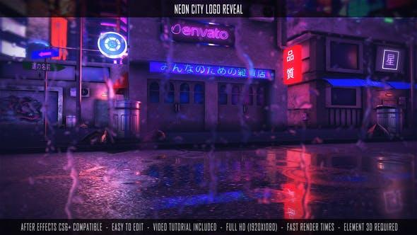 Videohive Neon City Logo Reveal 27877026
