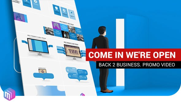 Videohive Promotional video - We are open 27000790
