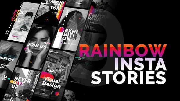 Videohive Rainbow Instagram Stories 24495969