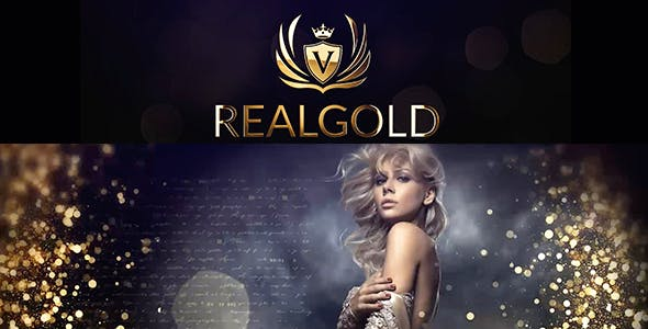 Videohive Real Gold Slideshow 21572530
