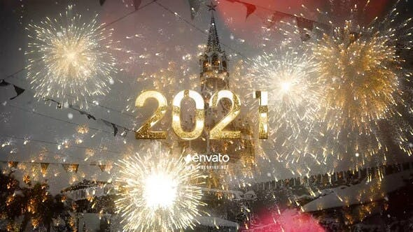 Videohive 2021 New Year Gold Countdown 25062249
