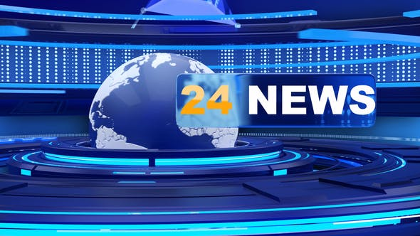Videohive 24 News Opener with looped background 25708857