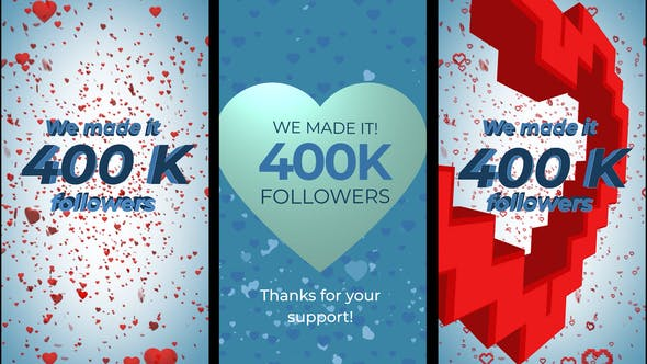 Videohive 400K Followers Stories 28461772