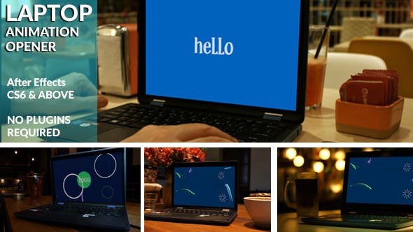 Videohive Animated Laptop Opener 20970542