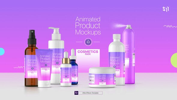 Videohive Animated Product Mockups - Cosmetics Pack 25513188