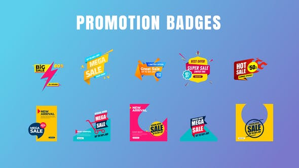 Videohive Badges Sale Promo V20 28869970