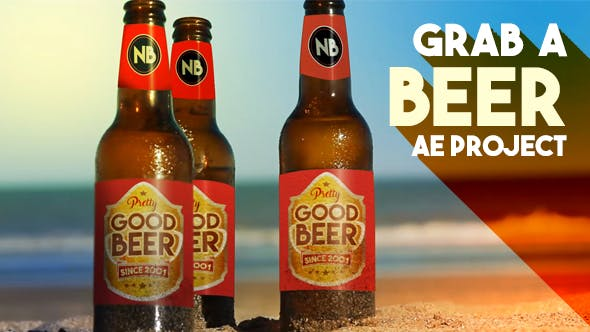Videohive Beer Bottles By The Beach 19162914