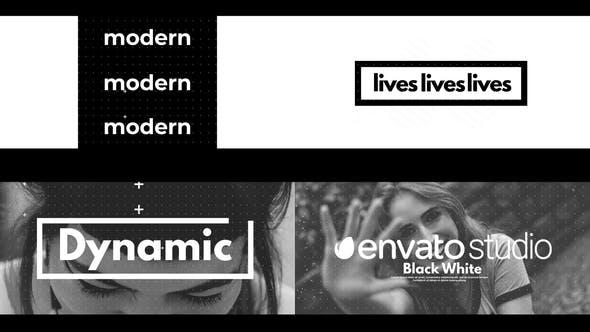 Videohive Black White Dynamic Logo 27637918