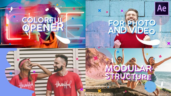 Videohive Colorful Opener 28344895