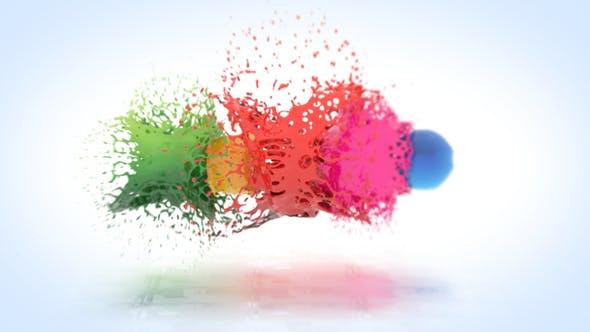 Videohive Colorful Splatter Logo Reveal 26797773