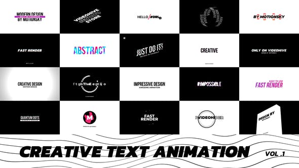 Videohive Creative Text Animation 27434056