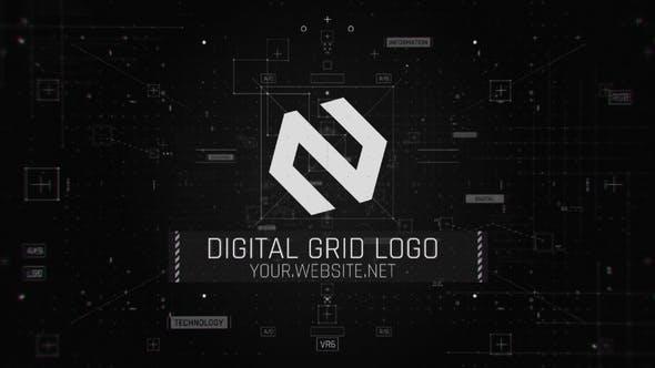 Videohive Digital Grid Logo 27791394