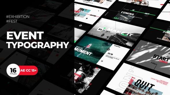 Videohive Event Typography - Festival Promo 24831846