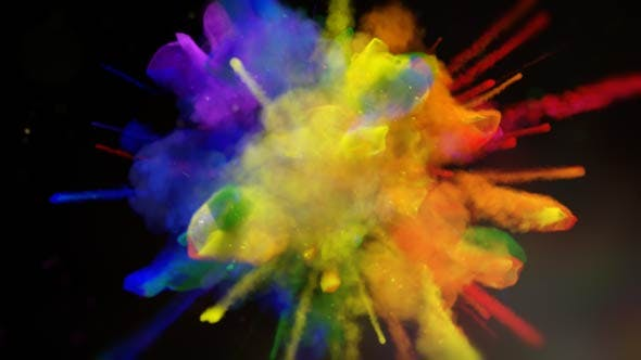 Videohive Exploding Colors Logo Reveal 18587979