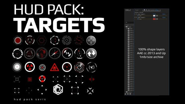 Videohive Hud Pack - Targets 28202656