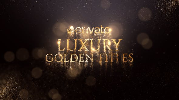 Videohive Luxury Golden Titles 21834365