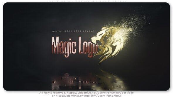 Videohive Magic Metal Particles Logo Reveal 26215603
