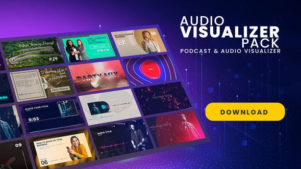 Videohive Podcast Audio Visualizer Pack 27682557