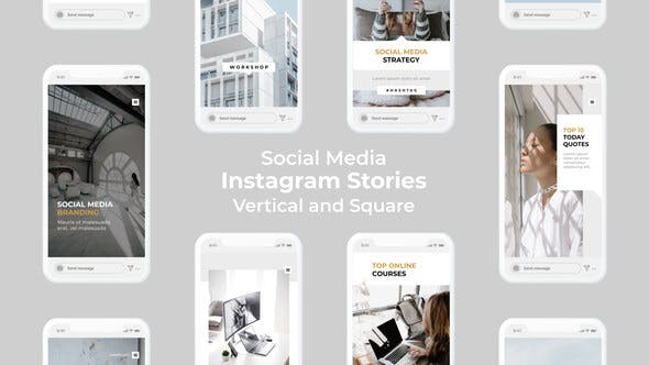 Videohive Social Media Instagram Stories - Vertical and Square 27501974