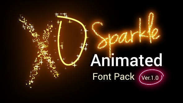 Videohive Sparkle Animated Font Pack - Version 2.00 21008308