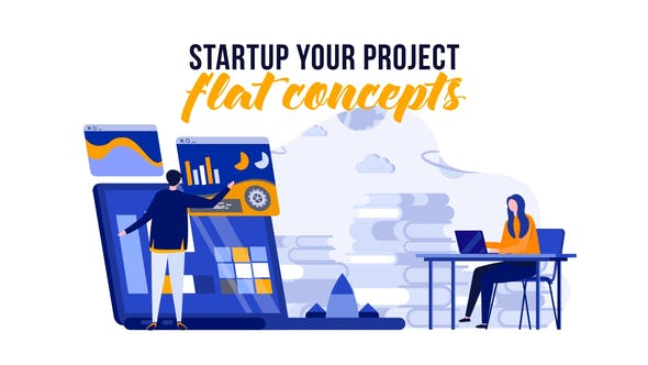 Videohive Startup your project - Flat Concept 29529360