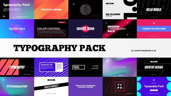Videohive Stylish Typography Pack 29014567