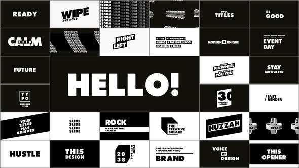 Videohive Typography - Titles 28995500