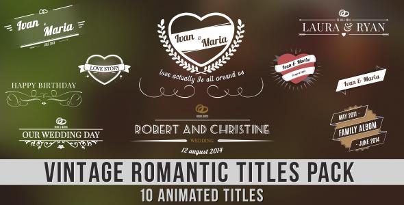 Videohive Vintage Romantic Titles Pack 7758364