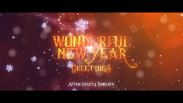 Videohive Wonderful New Years Greetings 18708907