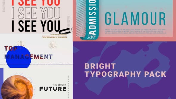 Videohive Bright Typography Pack 28530303